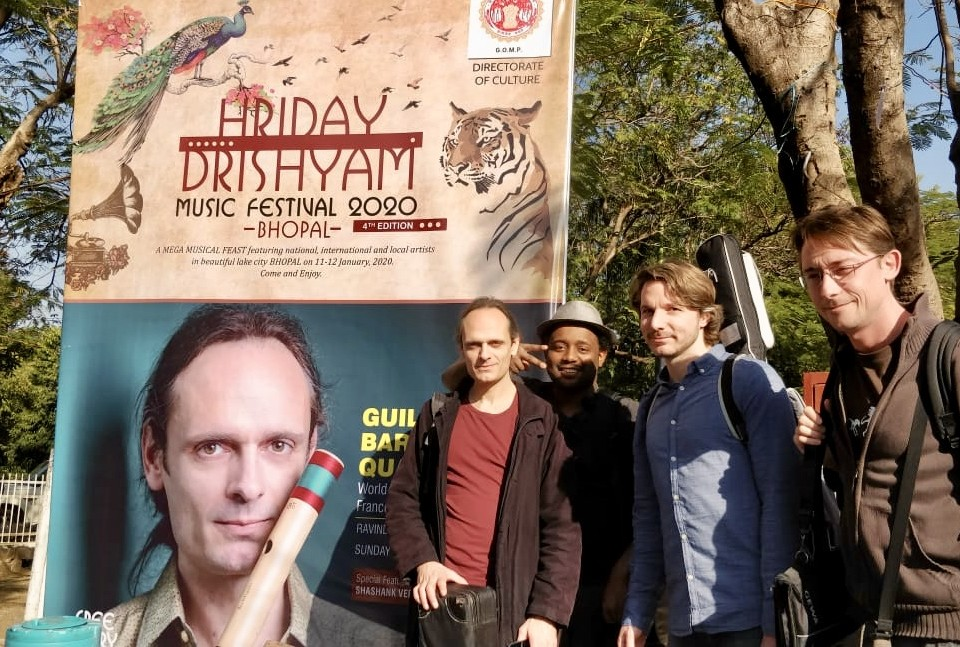 Guillaume-Barraud-quartet_India-Tour-2020-Hriday-Drishyam-Music-Festival